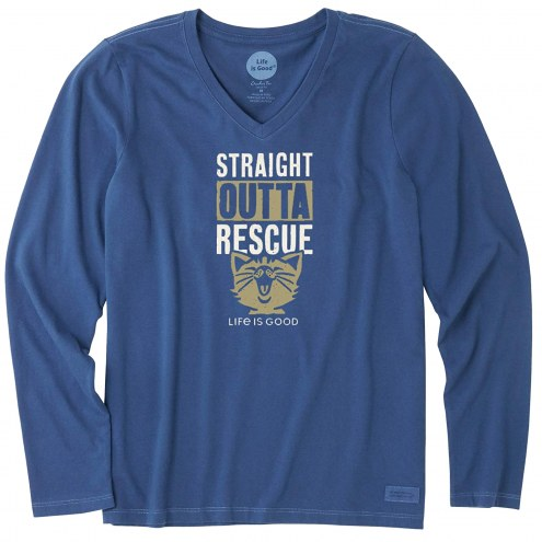Life is Good Straight Outta Rescue Women's Long Sleeve Shirt