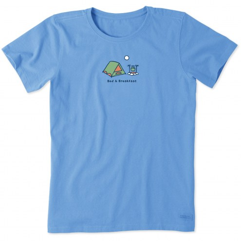 Life is Good Women's Bed and Breakfast Vintage Crusher T-Shirt