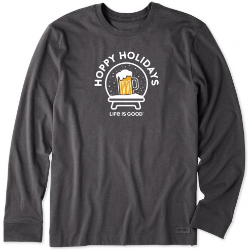Life is Good Men's Hoppy Holidays Long Sleeve Crusher Shirt