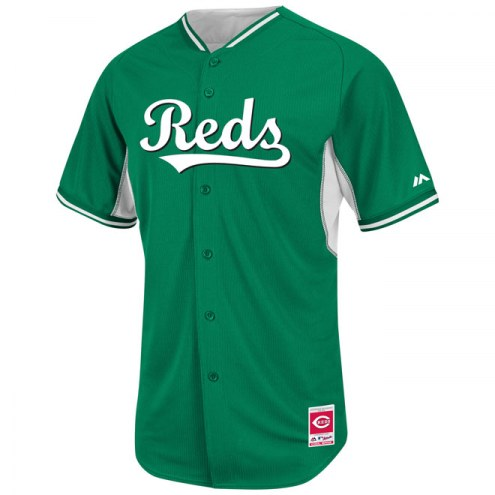 Cincinnati Reds Authentic Kelly Green Batting Practice Baseball Jersey