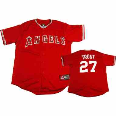 premium selection 65cbd 42cf3 Los Angeles Angels Mike Trout Replica Alternate Scarlet Baseball Jersey