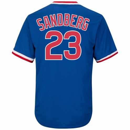 Chicago Cubs Ryne Sandberg Cooperstown Royal Replica Baseball Jersey