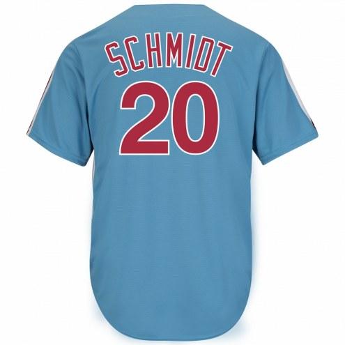 Philadelphia Phillies Mike Schmidt Cooperstown Columbia Blue Replica Baseball Jersey