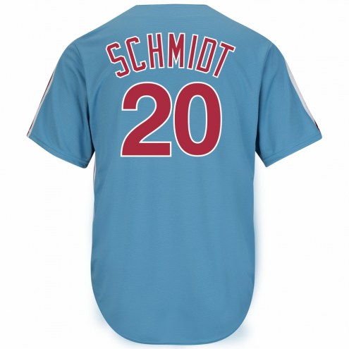 Philadelphia Phillies Mike Schmidt Cooperstown Columbia Blue Replica Baseball Jersey