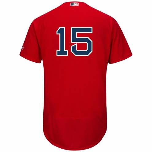 Boston Red Sox Dustin Pedroia Authentic Scarlet Alternate Baseball Jersey