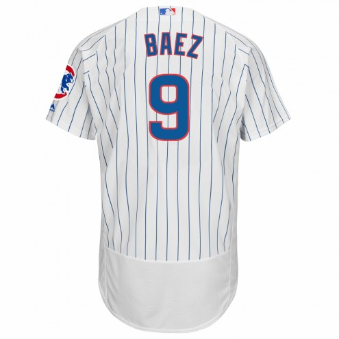 Chicago Cubs Javier Baez Authentic Home Baseball Jersey