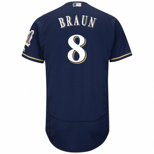 Milwaukee Brewers Ryan Braun Authentic Home Alternate Baseball Jersey