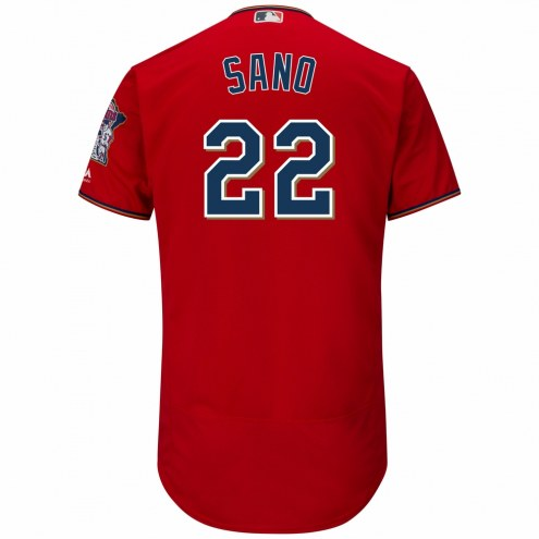 Minnesota Twins Miguel Sano Authentic Scarlet Alternate Baseball Jersey