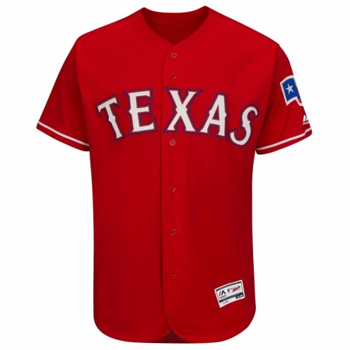 Texas Rangers Authentic Scarlet Alternate Baseball Jersey