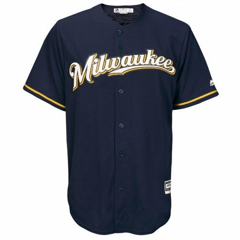 Milwaukee Brewers Replica Navy Alternate Baseball Jersey