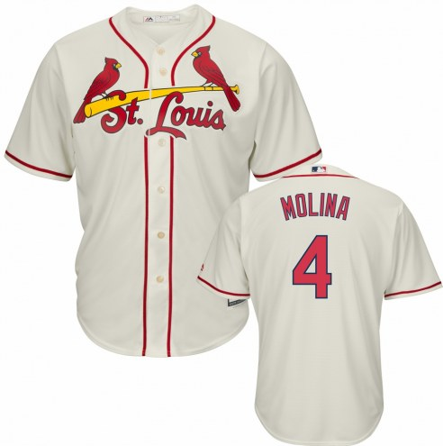 St. Louis Cardinals Yadier Molina Replica Ivory Alternate Baseball Jersey