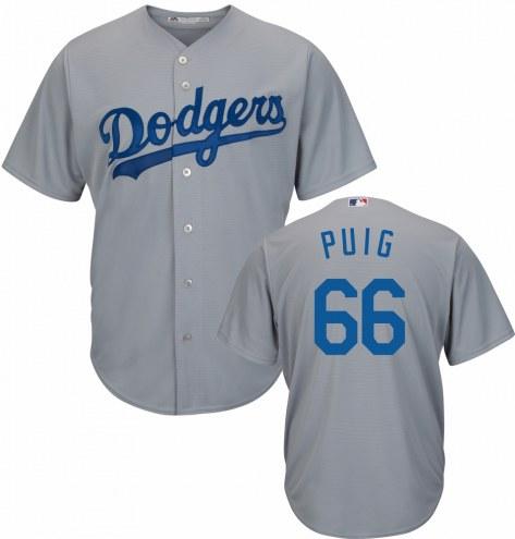 Los Angeles Dodgers Yasiel Puig Replica Road Alternate Baseball Jersey
