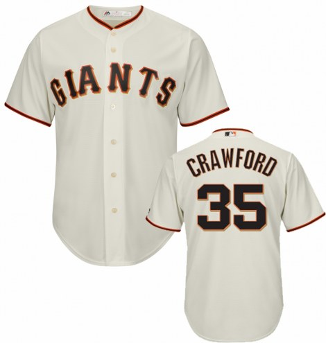 San Francisco Giants Brandon Crawford Replica Home Baseball Jersey