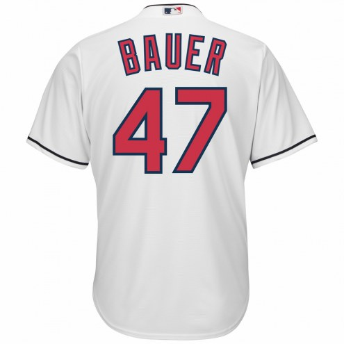 Cleveland Indians Trevor Bauer Replica Home Baseball Jersey