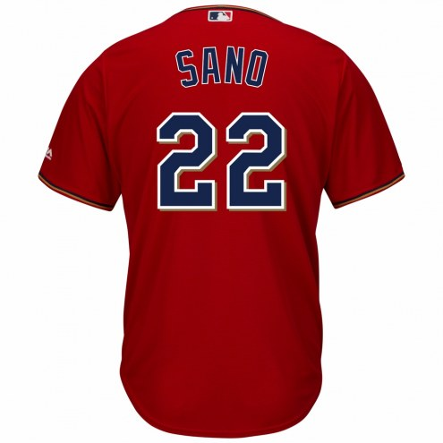 Minnesota Twins Miguel Sano Replica Scarlet Alternate Baseball Jersey