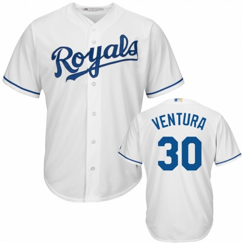 Kansas City Royals Yordano Ventura Replica Home Baseball Jersey