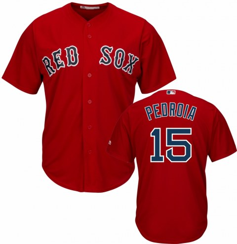 Boston Red Sox Dustin Pedroia Replica Scarlet Alternate Baseball Jersey