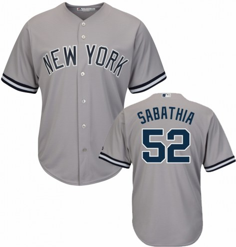 New York Yankees C.C. Sabathia Replica Road Baseball Jersey