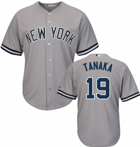 New York Yankees Masahiro Tanaka Replica Road Baseball Jersey