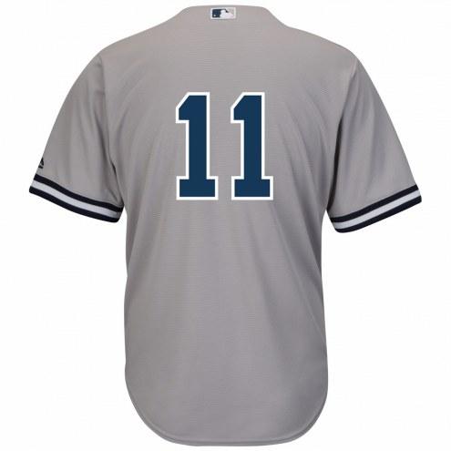 New York Yankees Brett Gardner Replica Number Only Road Baseball Jersey
