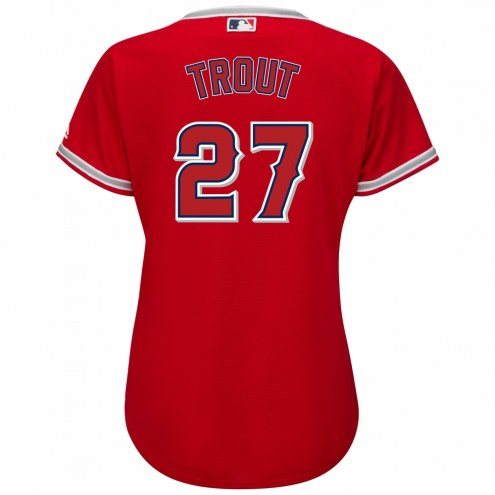 Los Angeles Angels Mike Trout Women's Replica Scarlet Alternate Baseball Jersey