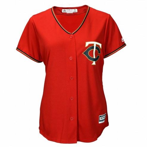 Minnesota Twins Women's Replica Scarlet Alternate Baseball Jersey