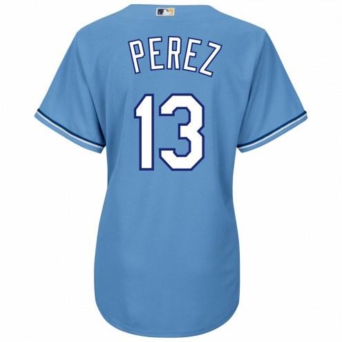 Kansas City Royals Salvador Perez Women's Replica Atlantic Blue Alternate Baseball Jersey