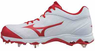 6c32d4bc5df9 Mizuno 9-Spike Advanced Sweep 3 Women's Fastpitch Softball Cleats. Selected  Color: White/Red