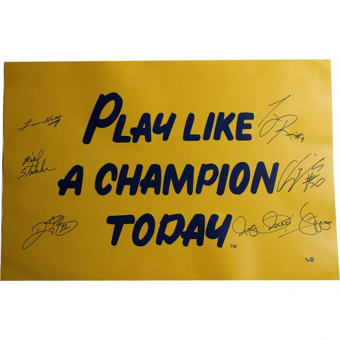 1988 Notre Dame 6 Signature 20x30 Play Like A Champion Poster