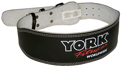 York 4 inch Padded Weight Lifting Belt