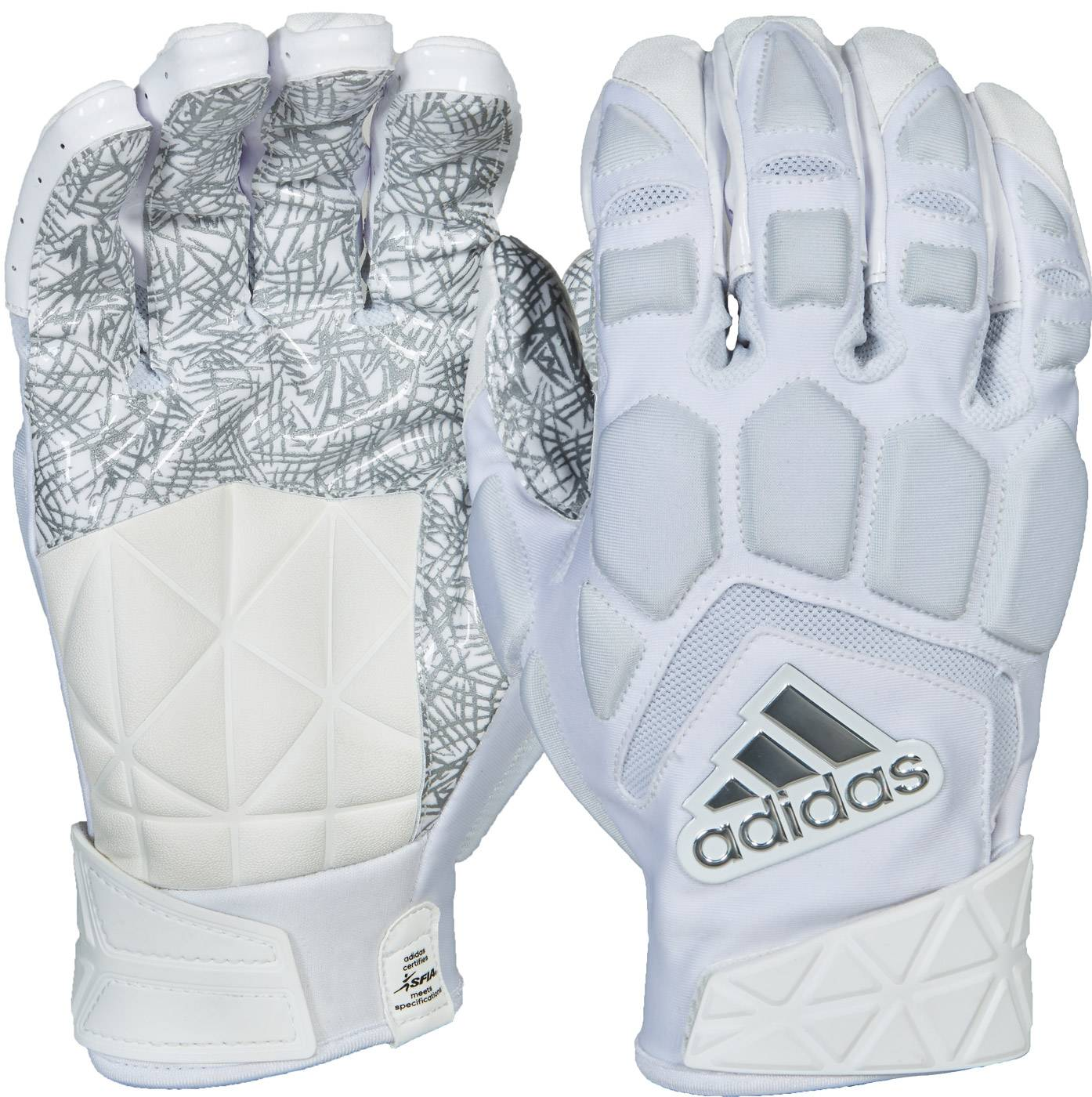 5d9a0f68a2b adidas Freak Max Adult Football Lineman Gloves White XL 8c10. About this  product. Picture 1 of 2  Picture 2 of 2