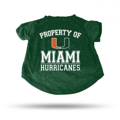 Miami Hurricanes Dog T-Shirt