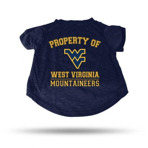 West Virginia Mountaineers Dog T-Shirt