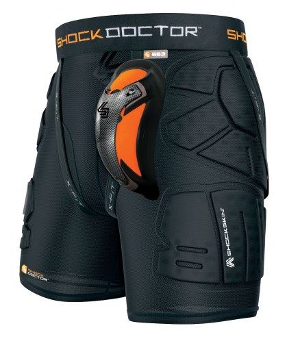 Shock Doctor Shockskin LAX Relaxed Fit Impact Short with Ultra Carbon Flex Cup