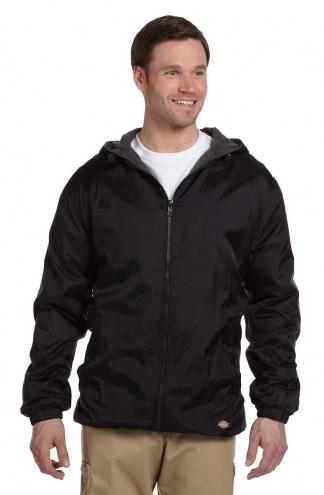 Dickies Fleece-Lined Nylon Men's Custom Hooded Jacket