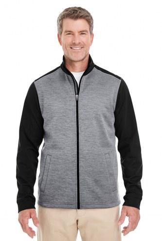 Devon & Jones Men's Newbury Colorblock Melange Fleece Full-Zip Jacket