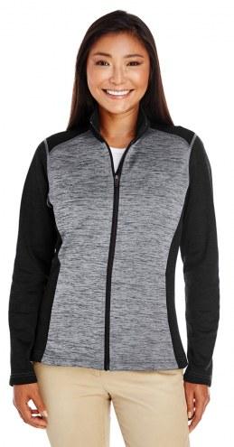 Devon & Jones Women's Newbury Colorblock Melange Fleece Full-Zip Jacket