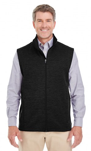 Devon & Jones Men's Newbury Melange Fleece Vest