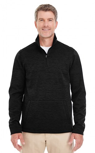 Devon & Jones Men's Newbury Melange Fleece Quarter-Zip