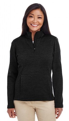 Devon & Jones Women's Newbury Melange Fleece Quarter-Zip