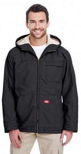 Dickies Sanded Duck Sherpa-Lined Men's Custom Hooded Work Jacket