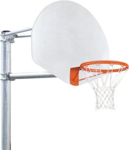 Porter 4' Vertical Post Playground Basketball Hoop with Fan Aluminum Backboard
