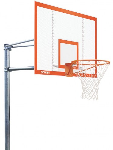 "Porter 6' Vertical Post Playground Basketball Hoop with 72"" Steel Backboard"