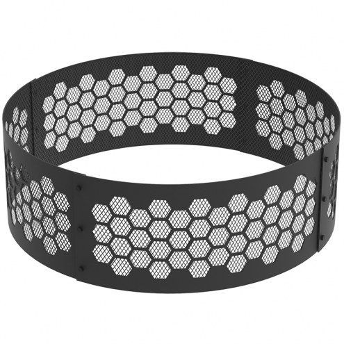 """Honeycomb 36"""" Round Steel Fire Ring"""