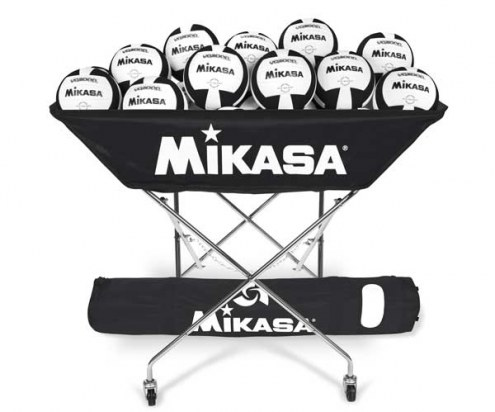 Mikasa Collapsible Hammock Style Volleyball Cart With Carrying Bag