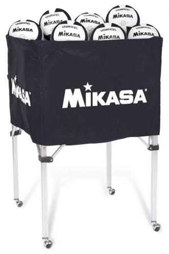 Mikasa Classic Collapsible 36 Ball Volleyball Cart With Carrying Bag