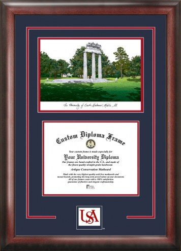 South Alabama Jaguars Spirit Graduate Diploma Frame