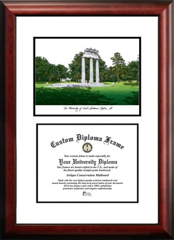 South Alabama Jaguars Scholar Diploma Frame