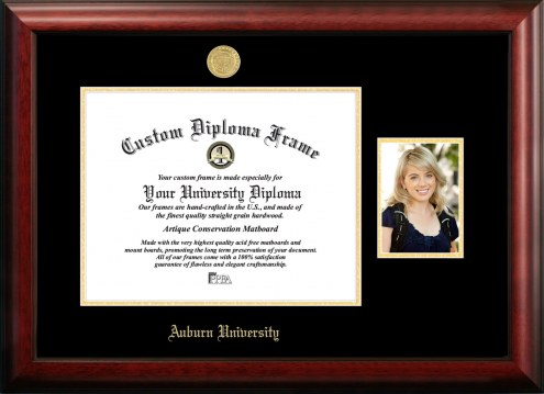 Auburn Tigers Gold Embossed Diploma Frame with Portrait