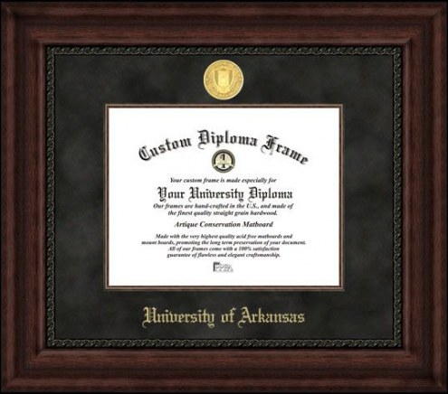 Arkansas Razorbacks Executive Diploma Frame